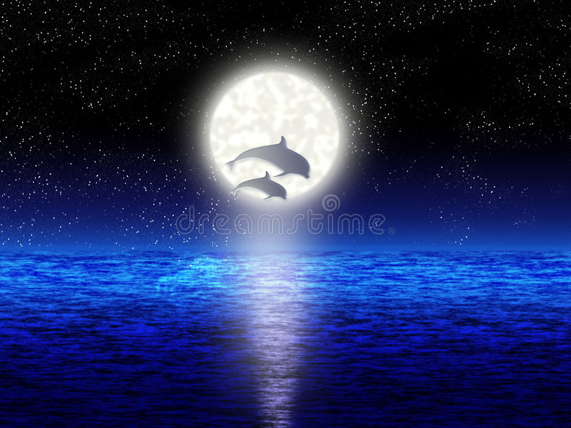 Dolphins stock illustration