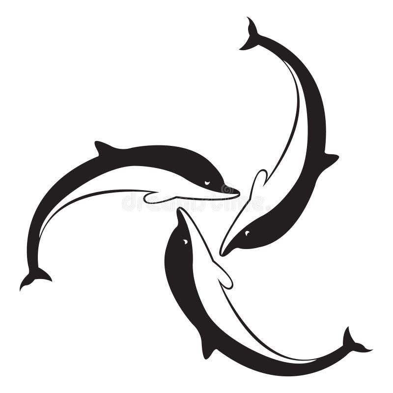 Download Dolphins stock illustration. Image of nature, black, illustration - 7933060