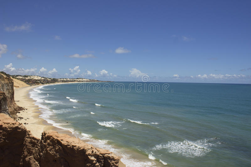 Dolphins Cove - Natal Brazil beaches. Natal the Capital of Rio Grande do Norte state in Brazilian northeast royalty free stock image