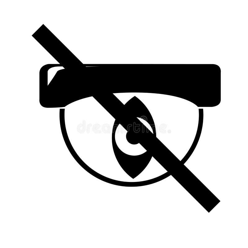 Dolt symbolsvektortecken och symbol som isoleras på vit bakgrund, gömt logobegrepp vektor illustrationer