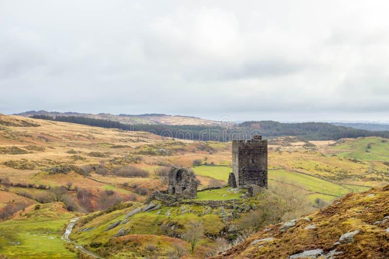 Dolwyddelan castle North Wales, UK. Dolwyddelan castle near betws north Wales stock photo