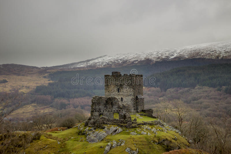 Dolwyddelan castle North Wales, UK. Dolwyddelan castle near betws north Wales stock images