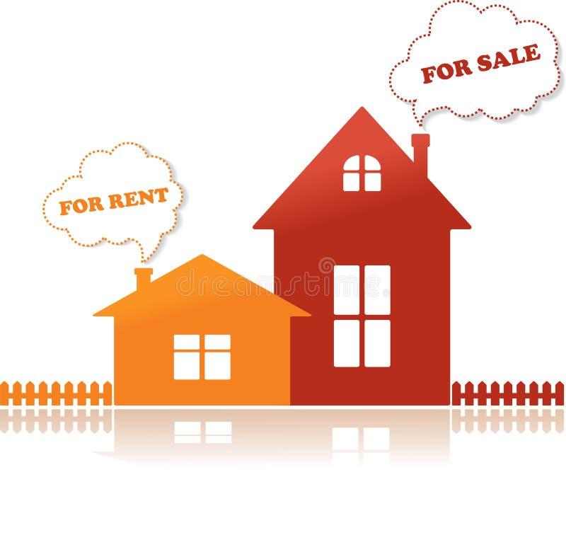 domów ilustraci czynszu sprzedaży wektor ilustracji