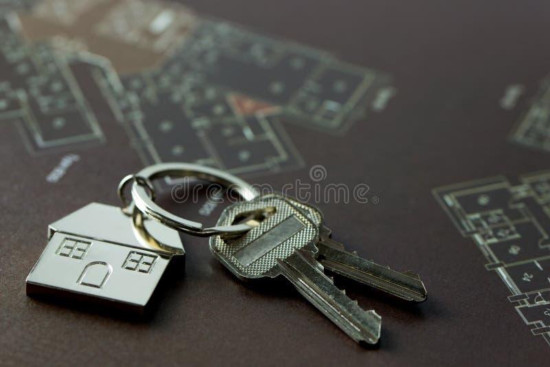 Domów klucze dla nieruchomości pojęcia obrazy royalty free
