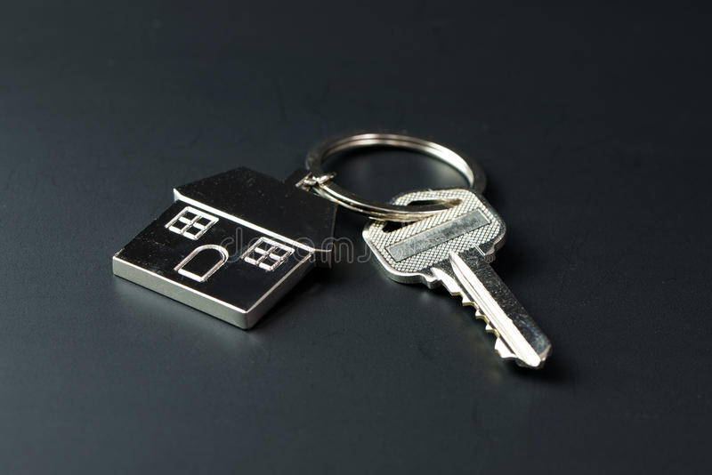 Domów klucze dla nieruchomości pojęcia fotografia royalty free