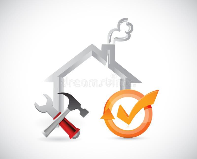 domów narzędzia i czek oceny cykl ilustracja wektor