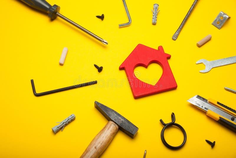 Domów narzędzia, wewnętrzny ulepszenie poj?cie to zdjęcia stock
