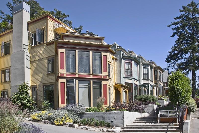 domów nowożytny Pacific stylowy miasteczko obrazy stock