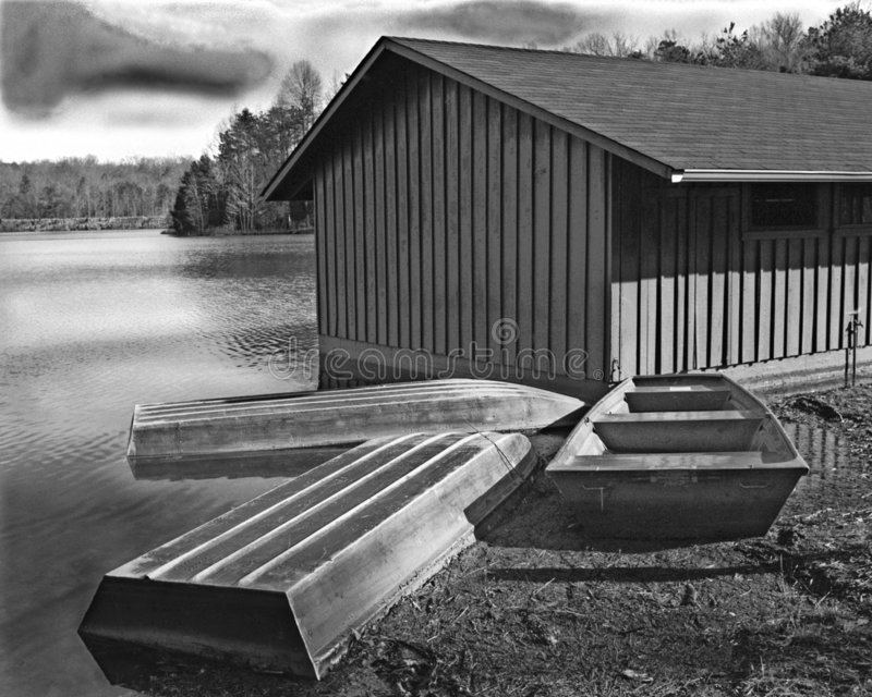 dom, łódź zdjęcia stock
