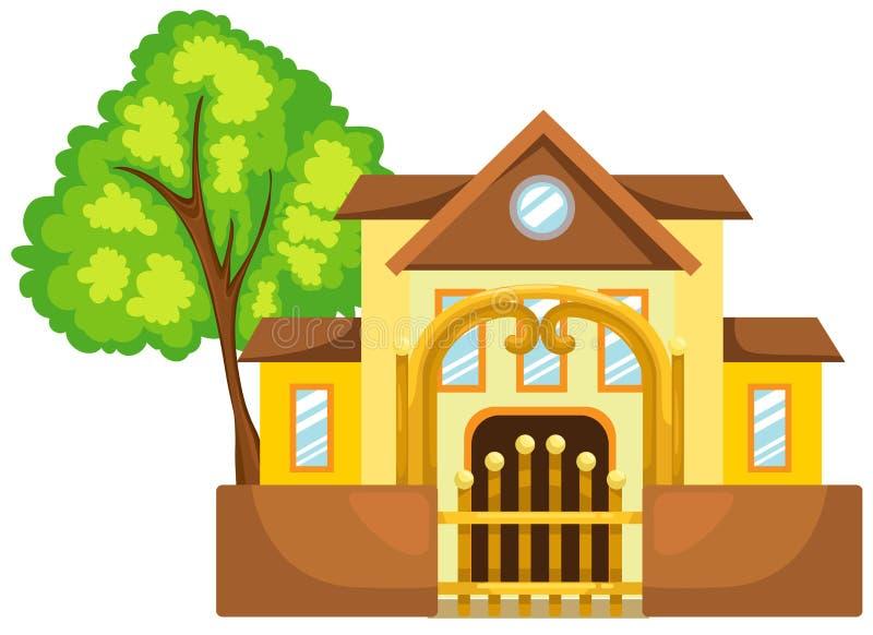 Download Dom ilustracja wektor. Ilustracja złożonej z wnętrze - 53790657