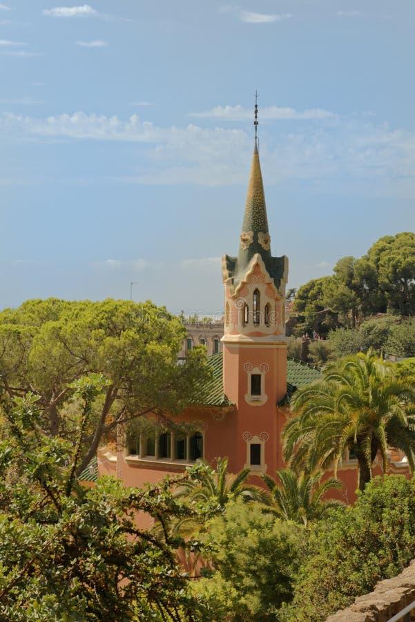 Dom Antoni Gaudi i muzeum w Parkowym Guell zdjęcia stock
