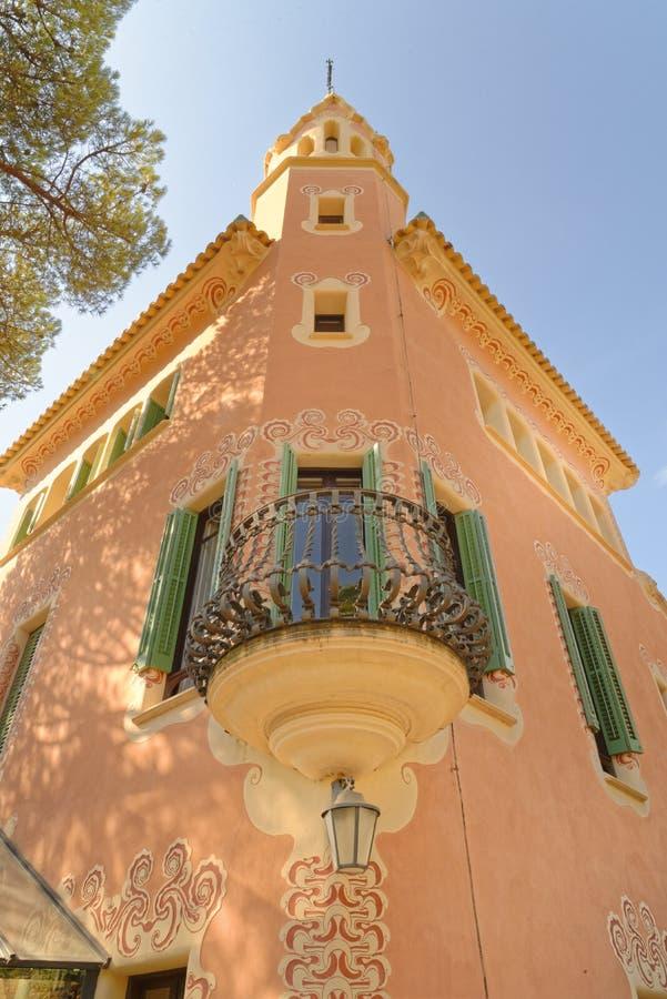 Dom Antoni Gaudi i muzeum w Parkowym Guell obraz royalty free