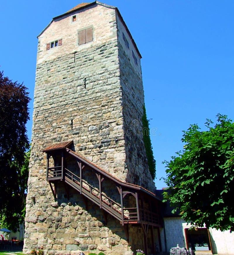 dom, architektura, budynek, stary, góruje, dryluje, cegła, kasztel, antyczny, niebo, ściana, błękit, dom, średniowieczny, Europe, obrazy royalty free