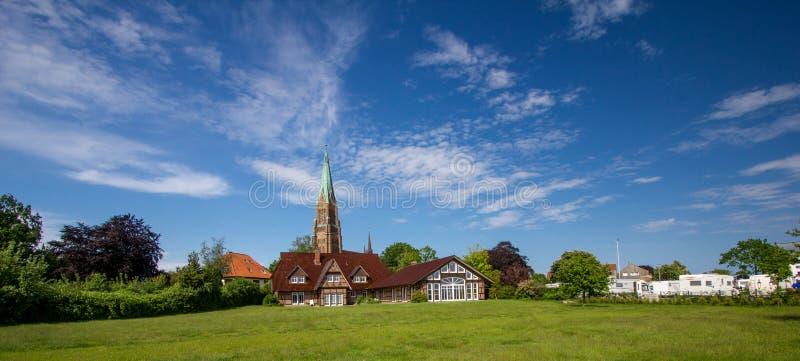 Dom av Schleswig i Schleswig-Holstein arkivfoton