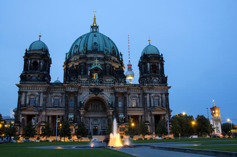 Dom In Berlin At Night Stock Image