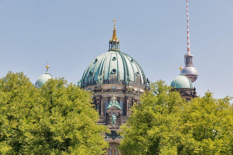 DOM berlinesi della cattedrale sull'isola di museo a Berlino, Germania fotografia stock