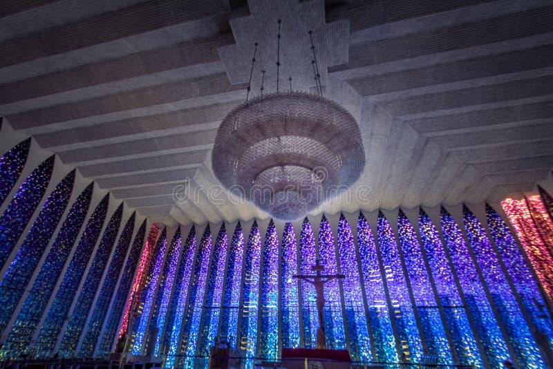 Dom Bosco sanktuarium wnętrze - Brasilia, Distrito Federacyjny, Brazylia obraz royalty free