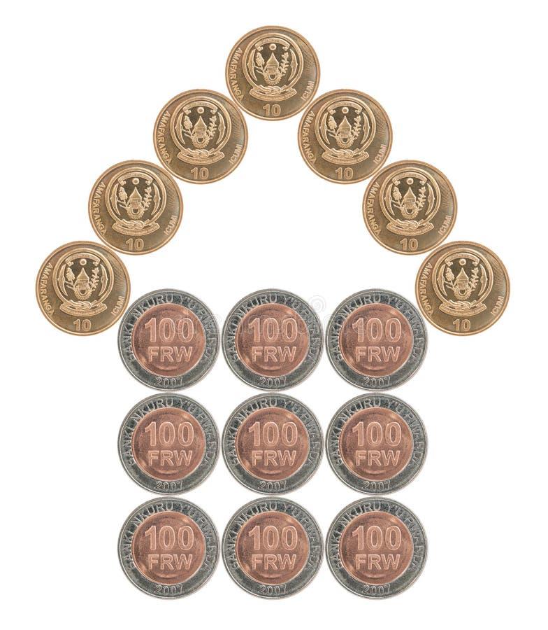 Dom budujący monety zdjęcie royalty free