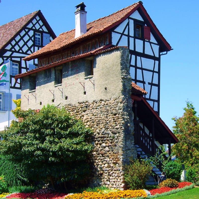 dom, budynek, architektura dachowa, stary, domowy, wioska, kamień, okno, ściana, Europe, miasto, niebo, domy, kasztel, antyczny,  zdjęcie stock