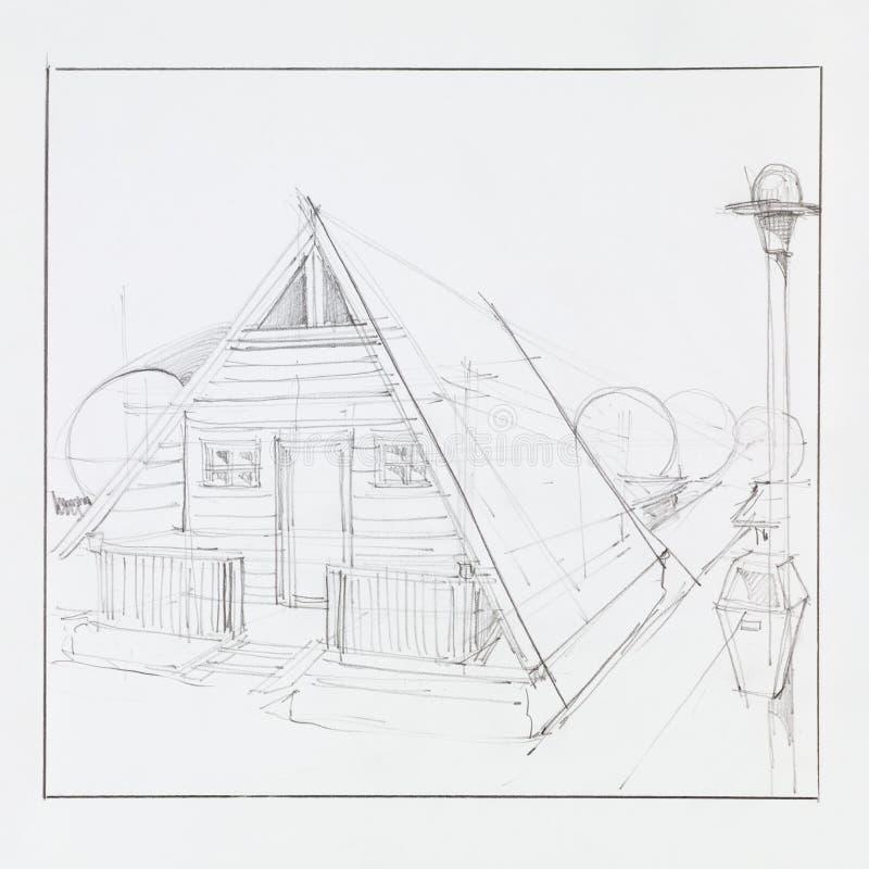 dom campingowy royalty ilustracja