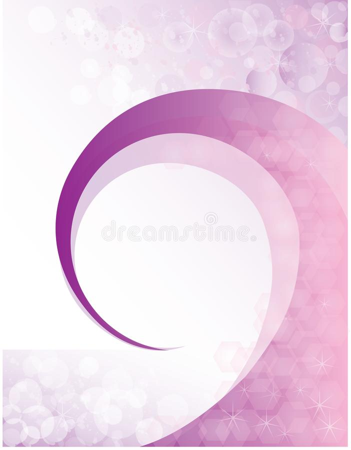 Dom claro das bolhas roxas do fundo da mola do redemoinho ilustração royalty free