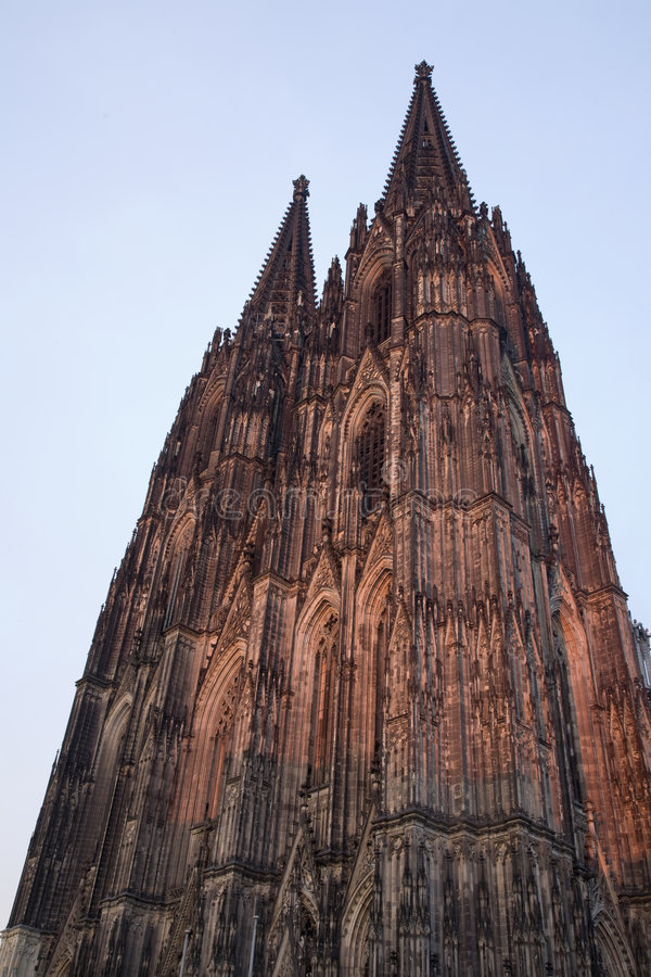 Dom in Cologne at sunset stock image