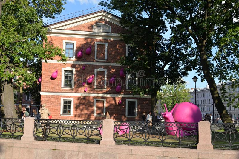 Dom Commandant w Nowej Holandia wyspie w St Petersburg fotografia stock