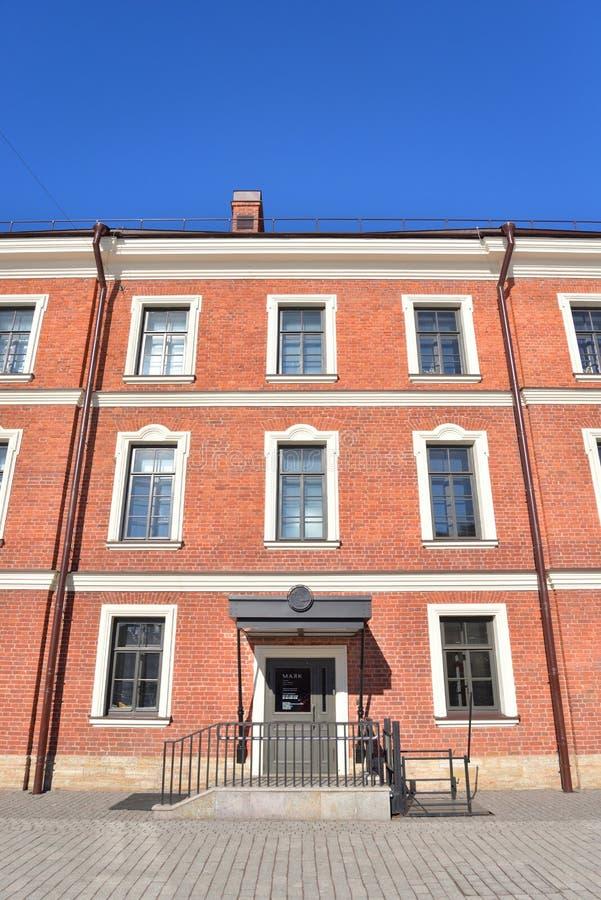 Dom Commandant w Nowej Holandia wyspie w St Petersburg obraz royalty free