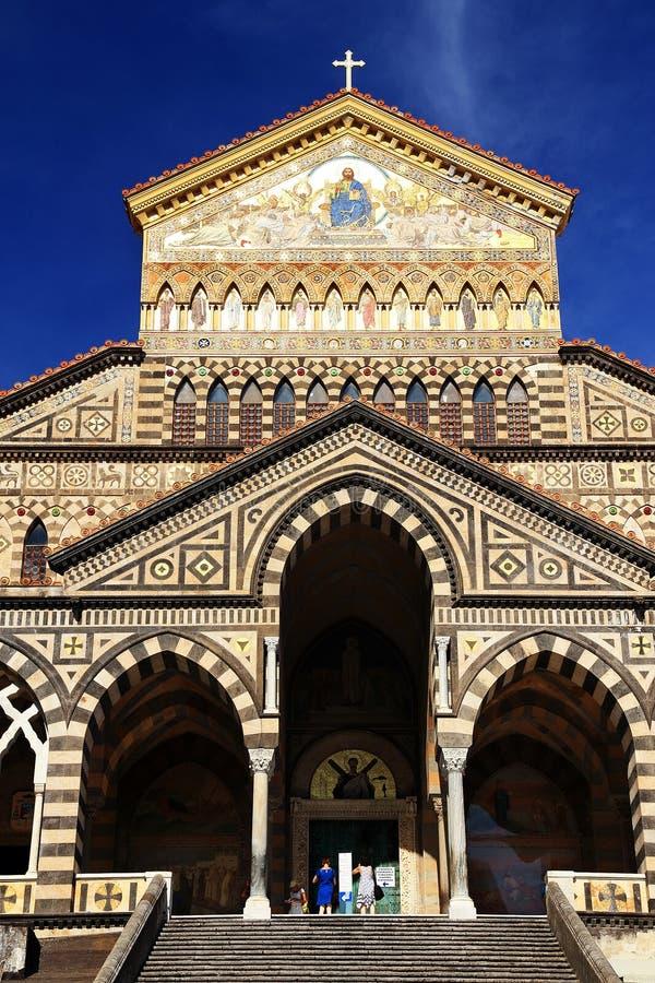 Dom de Amalfi, Campania, Italia imágenes de archivo libres de regalías