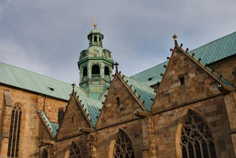 Dom de Hildesheimer (catedral) de Hildesheim, Alemania foto de archivo libre de regalías
