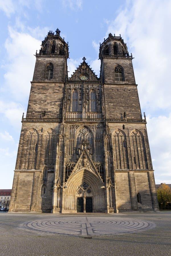 Dom de Magdeburger imagen de archivo libre de regalías