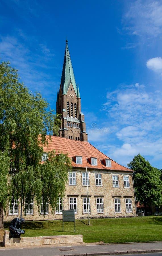 ¡Dom de Schleswig en Schleswig-Holstein, Alemania! imagen de archivo