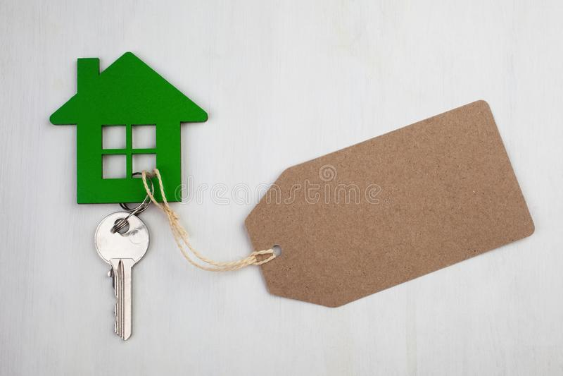Dom dla czynszowej etykietki zdjęcie stock