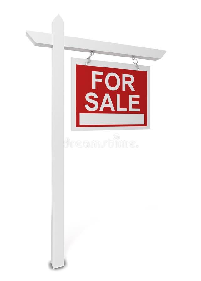 Dom dla sprzedaż znaka ilustracji