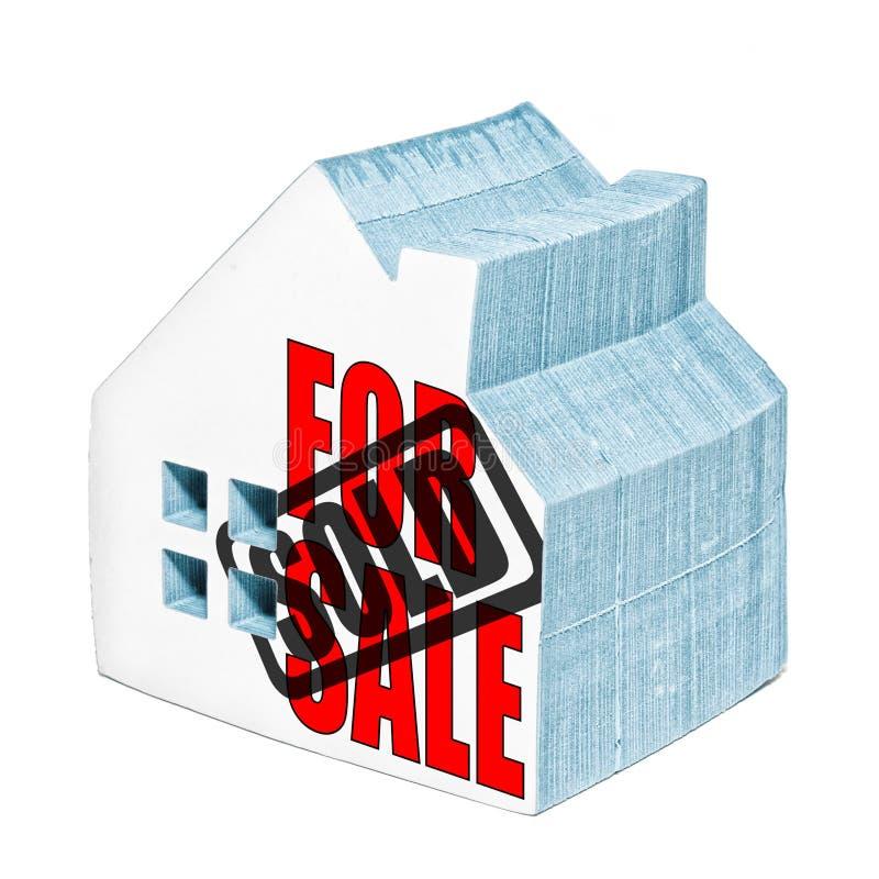 Dom Dla sprzedaży Sprzedaje zdjęcia royalty free