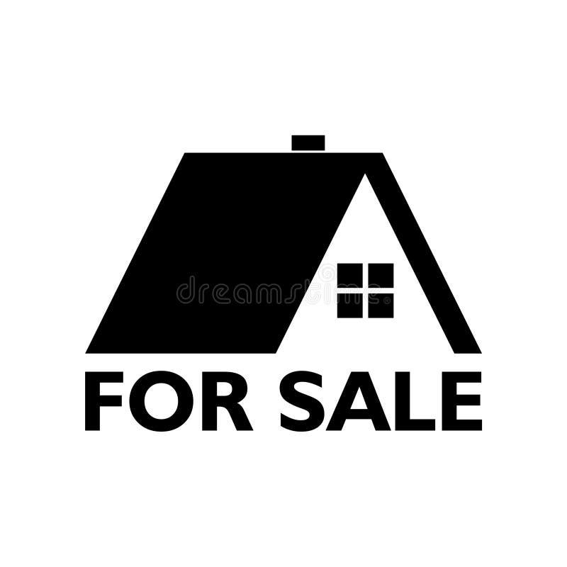 Dom dla sprzeda? znaka lub ikony ilustracja wektor