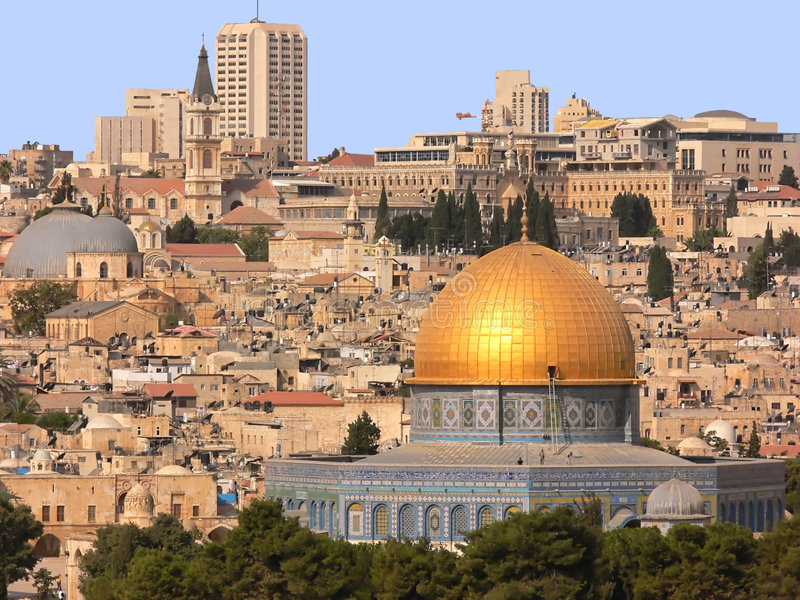 DOM dorati a Gerusalemme. fotografia stock