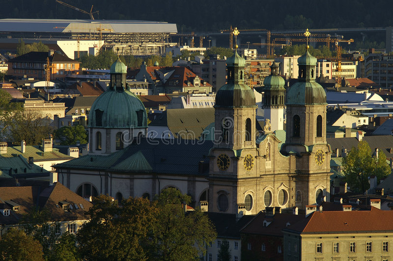 Dom en Innsbruck fotos de archivo