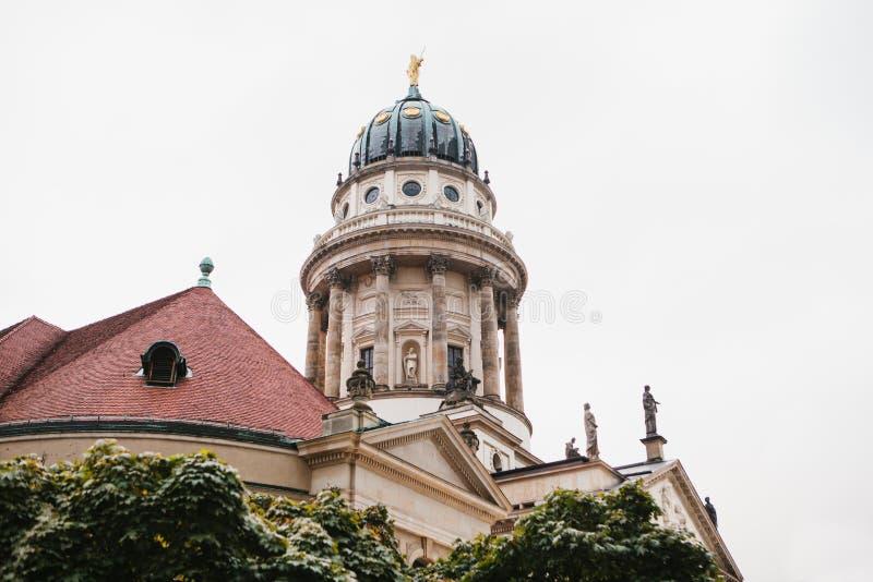 DOM francesi di Franzoesischer o della cattedrale a Berlino, Germania Evangelico e chiesa luterana della Germania e dell'architet immagine stock