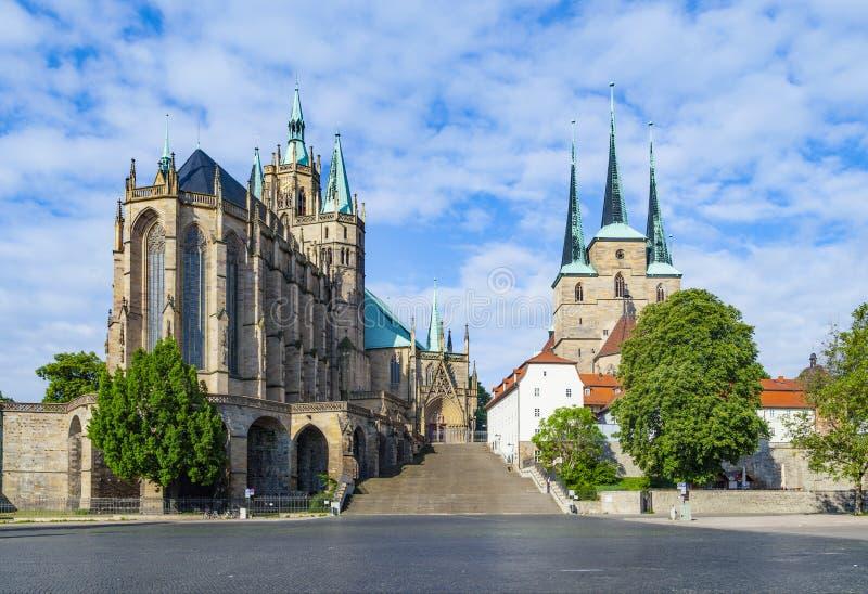 Dom heuvel van Erfurt Duitsland royalty-vrije stock fotografie