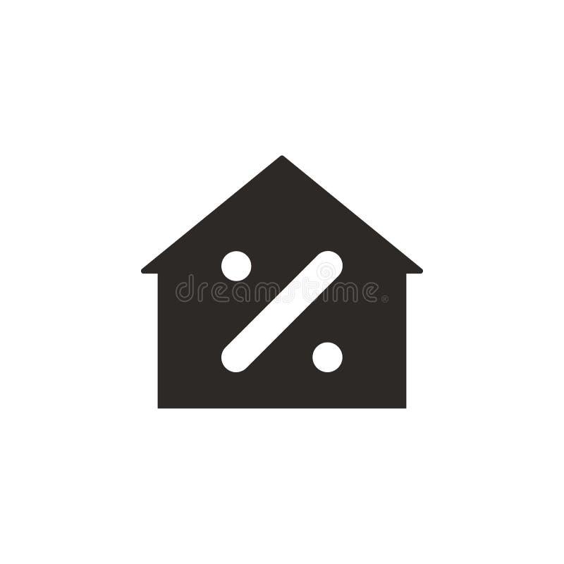 Dom, hipoteczna wektorowa ikona Prosta element ilustracja od UI poj?cia Dom, hipoteczna wektorowa ikona Finansowy pojęcie wektor ilustracji