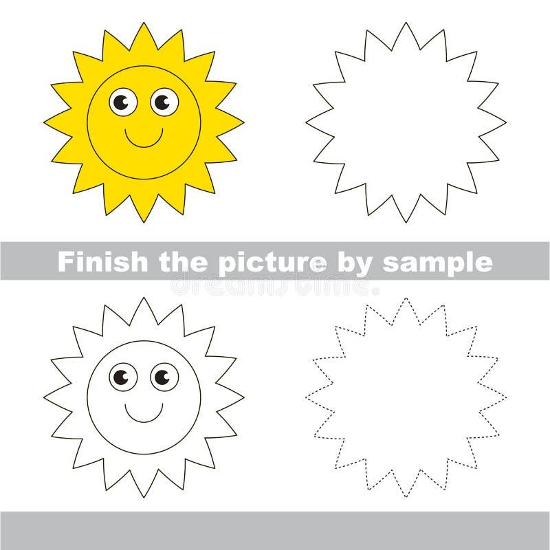 Dom Hoja de trabajo del dibujo ilustración del vector