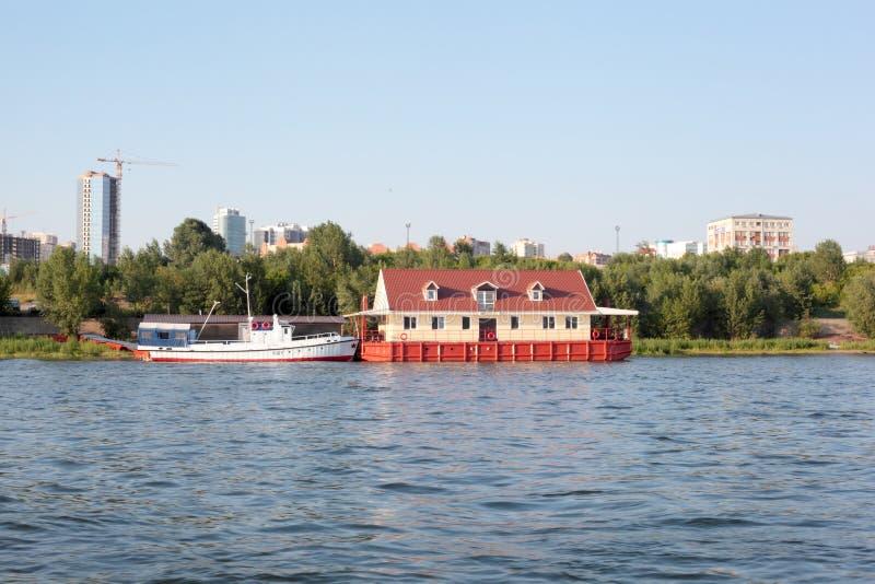 Dom i łódź obraz royalty free
