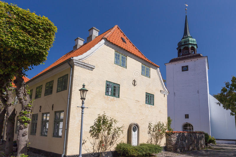 Dom i kościół obrazy royalty free
