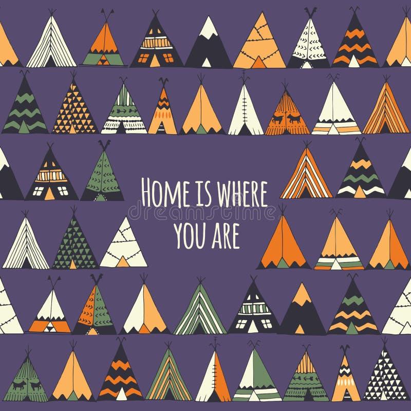 Dom jest dokąd ty jesteś ilustracji