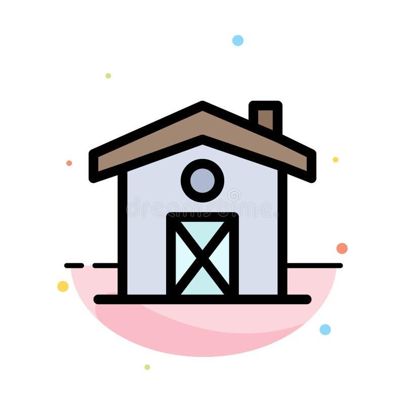 Dom, dom, Kanada koloru ikony Abstrakcjonistyczny Płaski szablon ilustracja wektor
