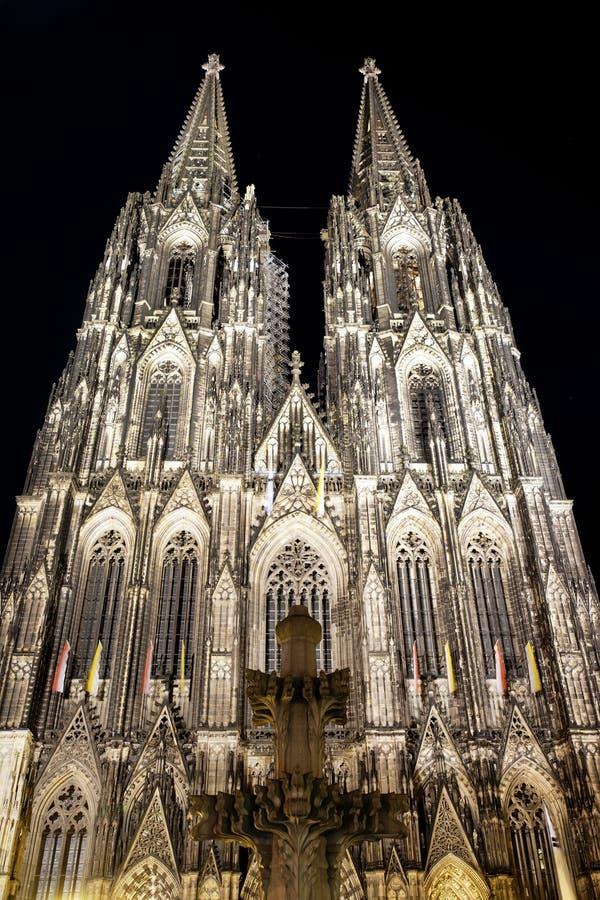 Dom of Koln, Germany. Dom of Koln by night, Germany stock images