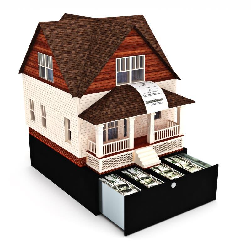 Dom kosztuje pojęcie ilustracja wektor