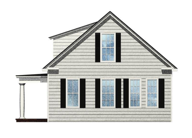 dom kreślący ilustracji