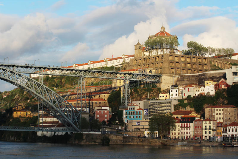 Dom Luís I Bridge, Porto, Portugal royalty free stock image